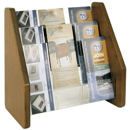 3 Tier Brochure Rack (Medium Oak)