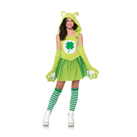 Leg Avenue Care Bears Junior Good Luck Bear Teen Halloween Costume - Toddler Care Bear Costume