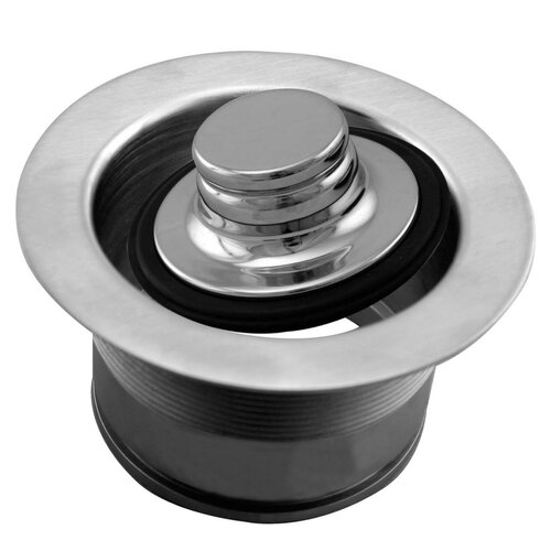 Westbrass 3-1/2 in. Brass EZ Mount Disposal Flange and Stopper D2105 in Satin Nickel