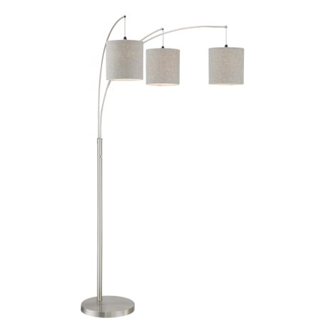"Lite Source LS-83282 Norlan 3 Light 93"" Tall Arc and Tree Floor Lamp"