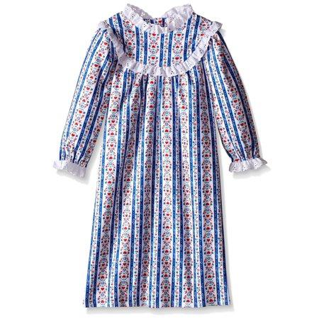 Lanz of Salsbury Girls' Toddler Girls Navy Novelty Gown, Navy, Size: 5 (Lanz Flannel Nightgowns)