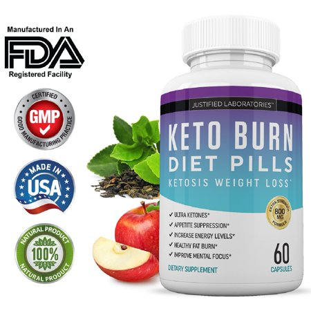 Keto Diet Pills Burn Shred BHB Salts Advanced Ketogenic Supplement Exogenous Ketones Ketosis Weight Loss Fat Burner Fast Carb Blocker ()