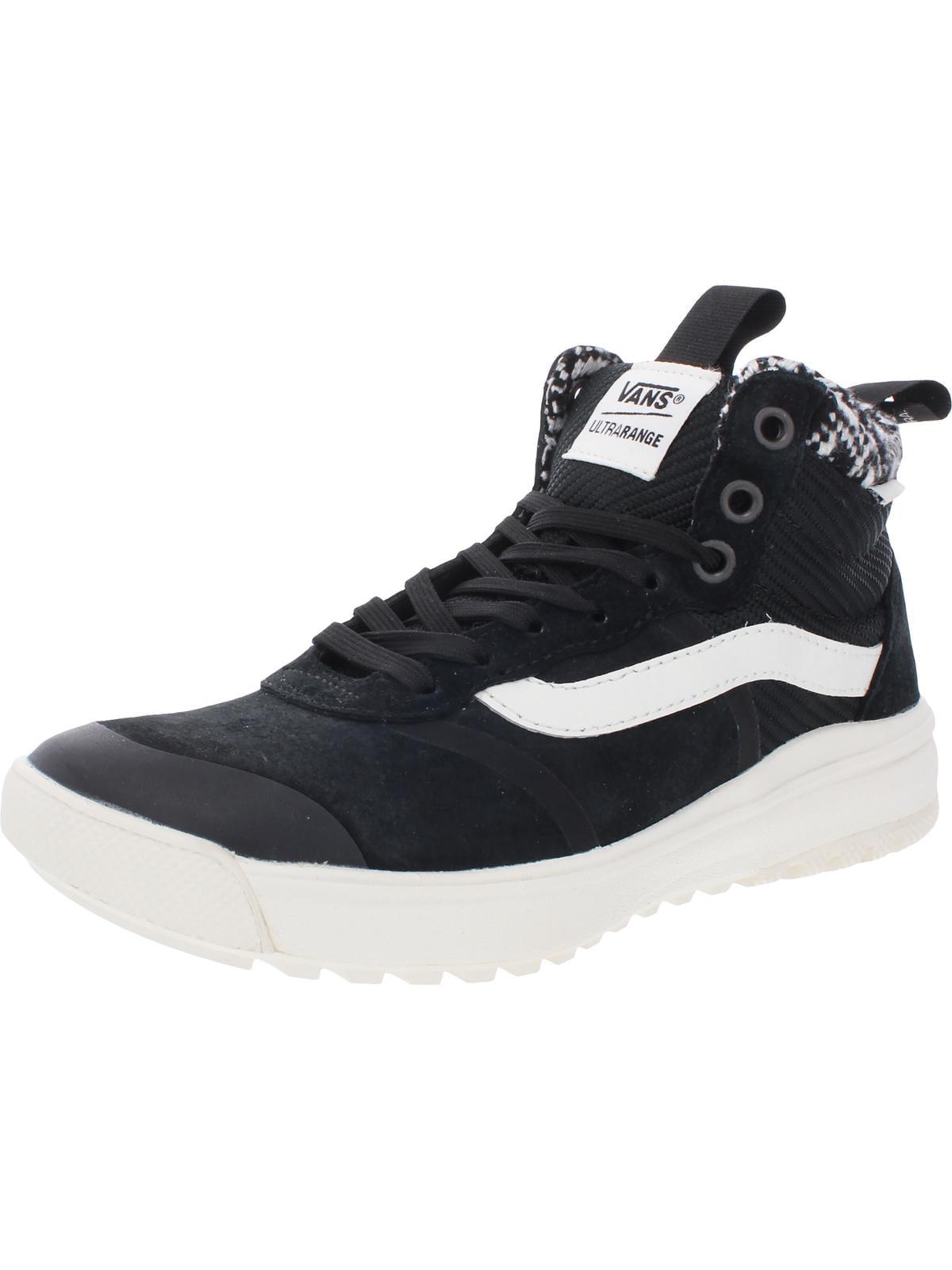 Vans - Vans Mens Ultrarange Hi DI Suede Woven Skate Shoes Black ...