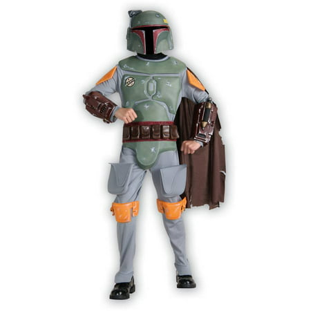 Boba Fett Deluxe Child Costume (Boy's Deluxe Boba Fett Halloween Costume - Star Wars)