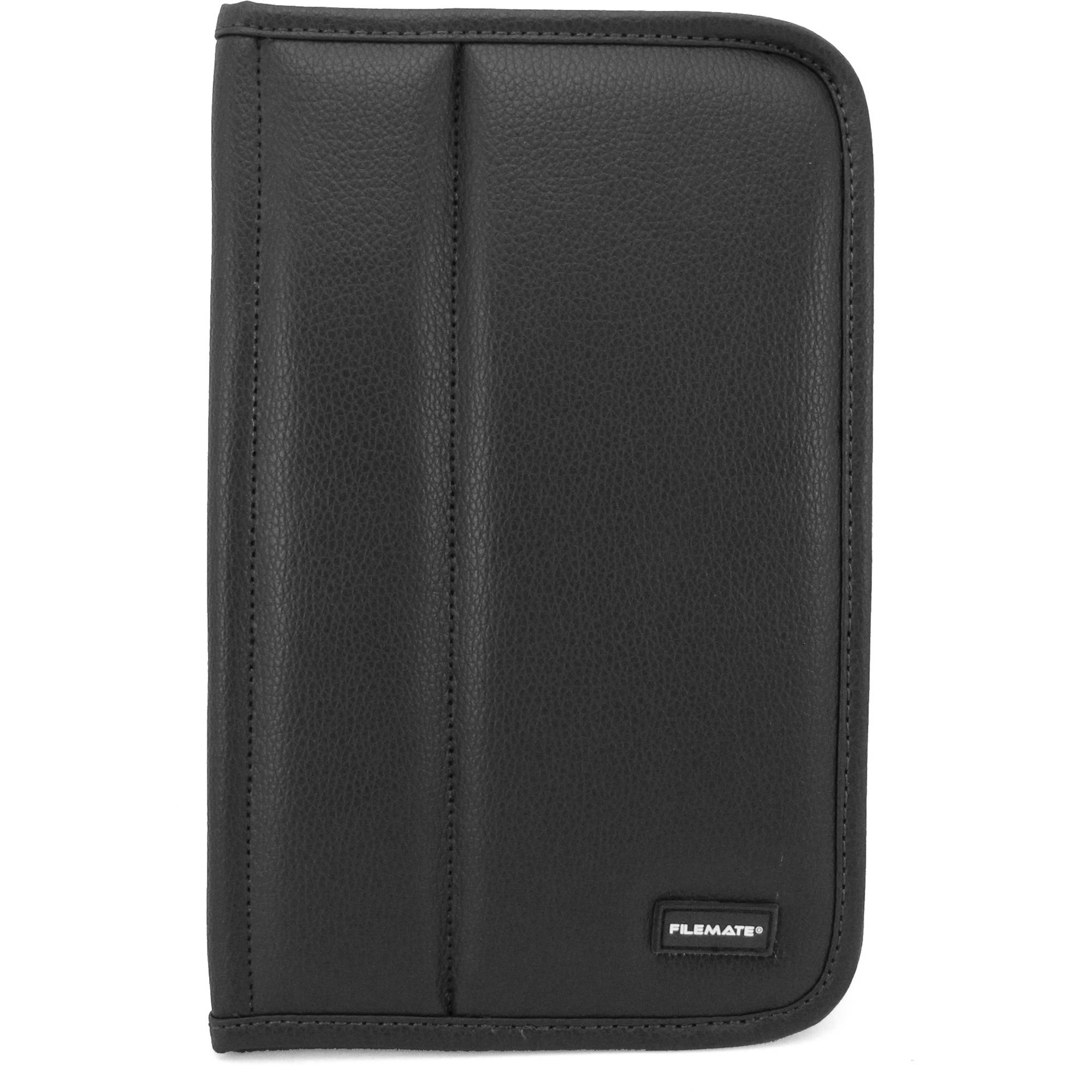 """FileMate ECO Faux Leather Case with Elastic Strap for 7"""" Tablet PCs, Assorted Colors"""