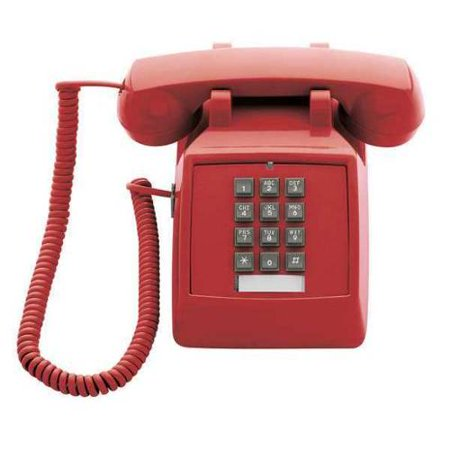CETIS 2510E (Red) Standard Desk Phone, Red Classic Design Desk Phone