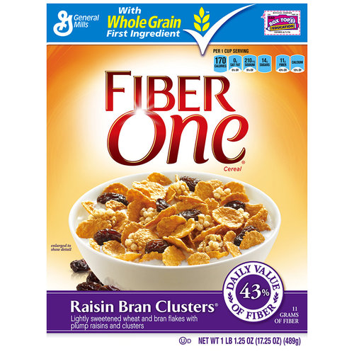 General Mills Fiber One  Cereal, 17.25 oz
