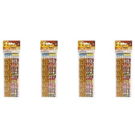 (4 Pack) Emoji Pencils, 8ct - Emoji Pencils