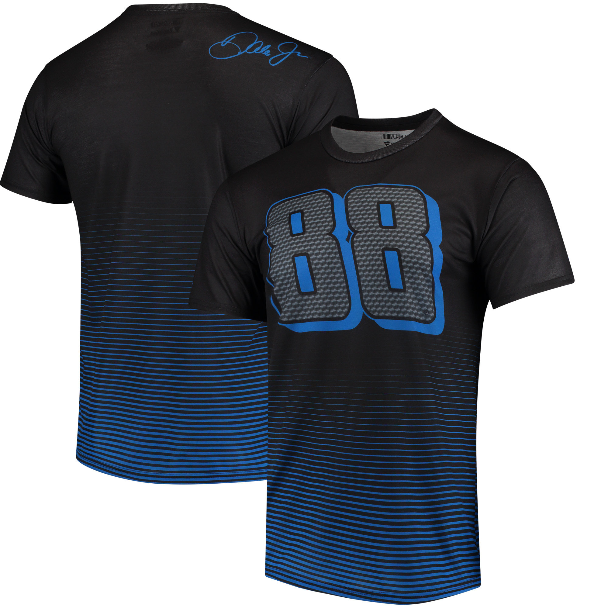 Dale Earnhardt Jr. Fanatics Branded Nationwide Speed Lab Gradient T-Shirt - Black/Blue