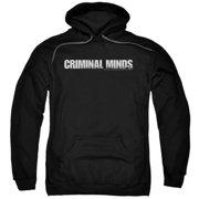 Trevco Criminal Minds-Logo - Adult Pull-Over Hoodie - Black, 2X