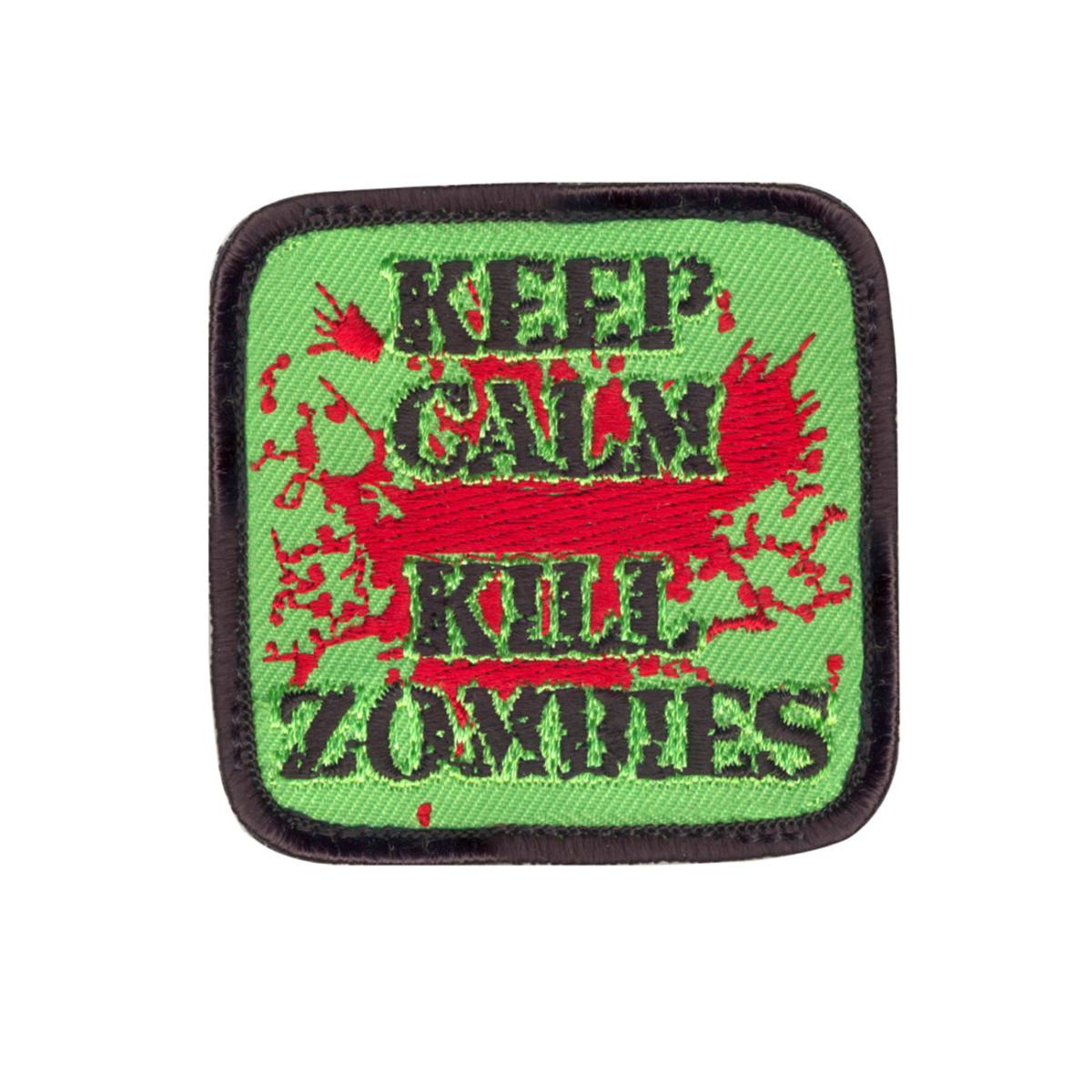 """Rothco Keep Calm Kill Zombies Morale Patch with Hook Back, 2.5"""" x 2.5"""""""