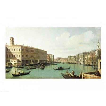 Posterazzi BALXIR210324 The Grand Canal From The Rialto Bridge Poster Print by Giovanni Antonio Canaletto - 24 x 18 in. - image 1 de 1