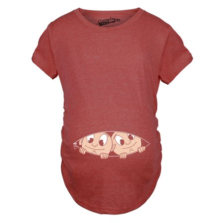 Maternity Peeking Twins T Shirt Cute Baby Announcement Pregnancy - Pregnancy Announcement Ideas Halloween
