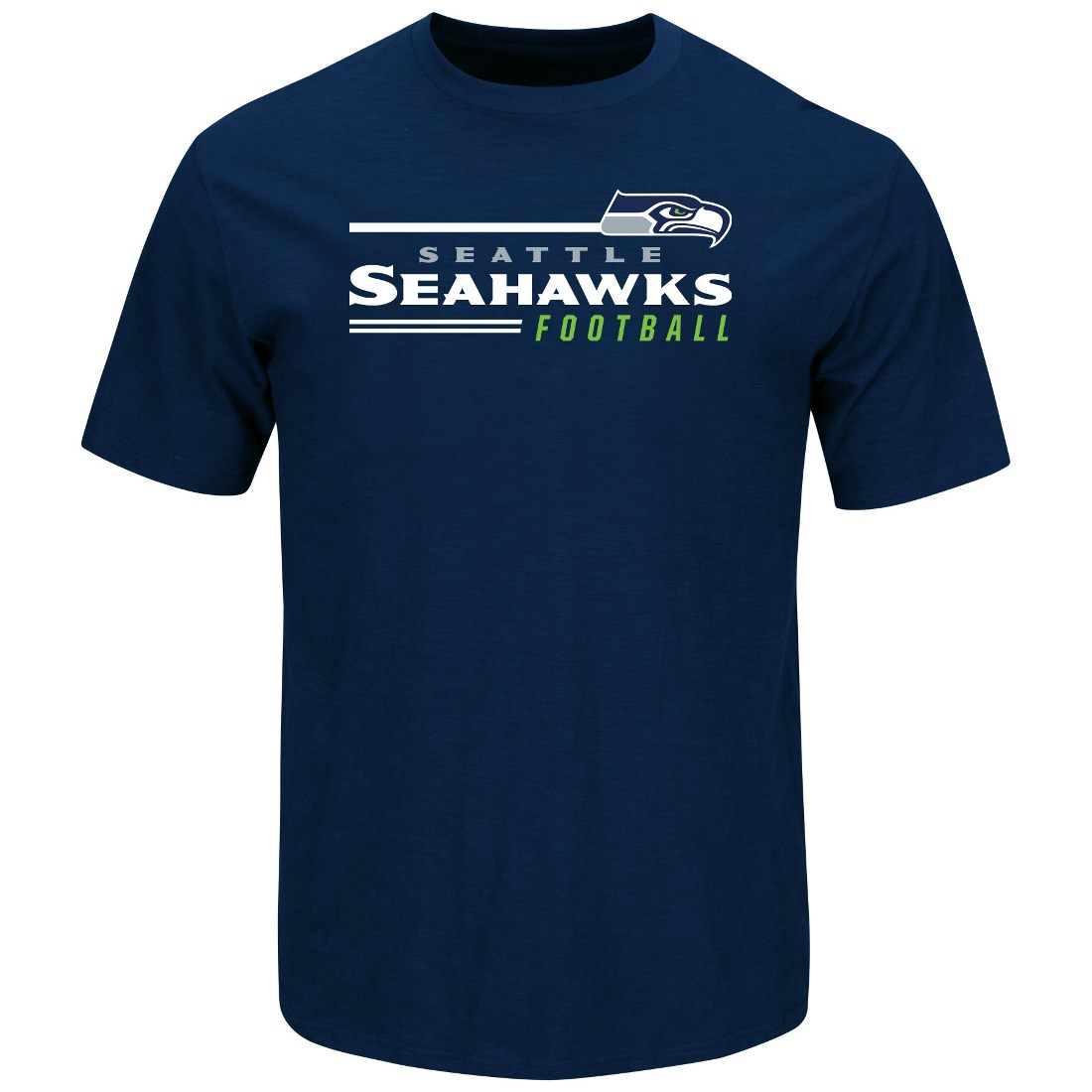 "Seattle Seahawks Majestic NFL ""Line of Scrimmage 2"" Men's T-Shirt - Navy"