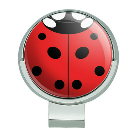 Lady Bug Ladybug Insect Golf Hat Clip With Magnetic Ball Marker Magnetic Ball Marker