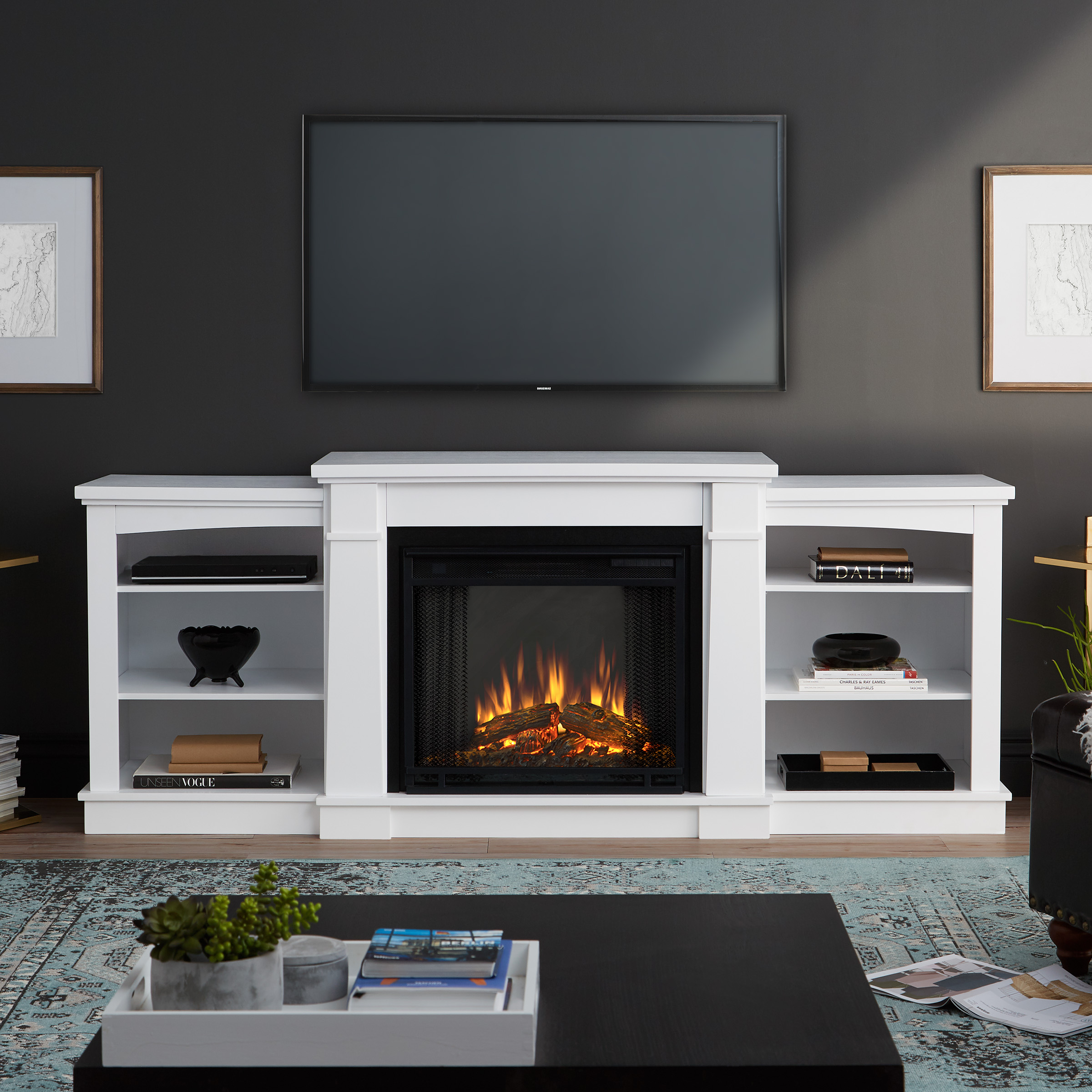 Hawthorne Electric Fireplace in White by Real Flame