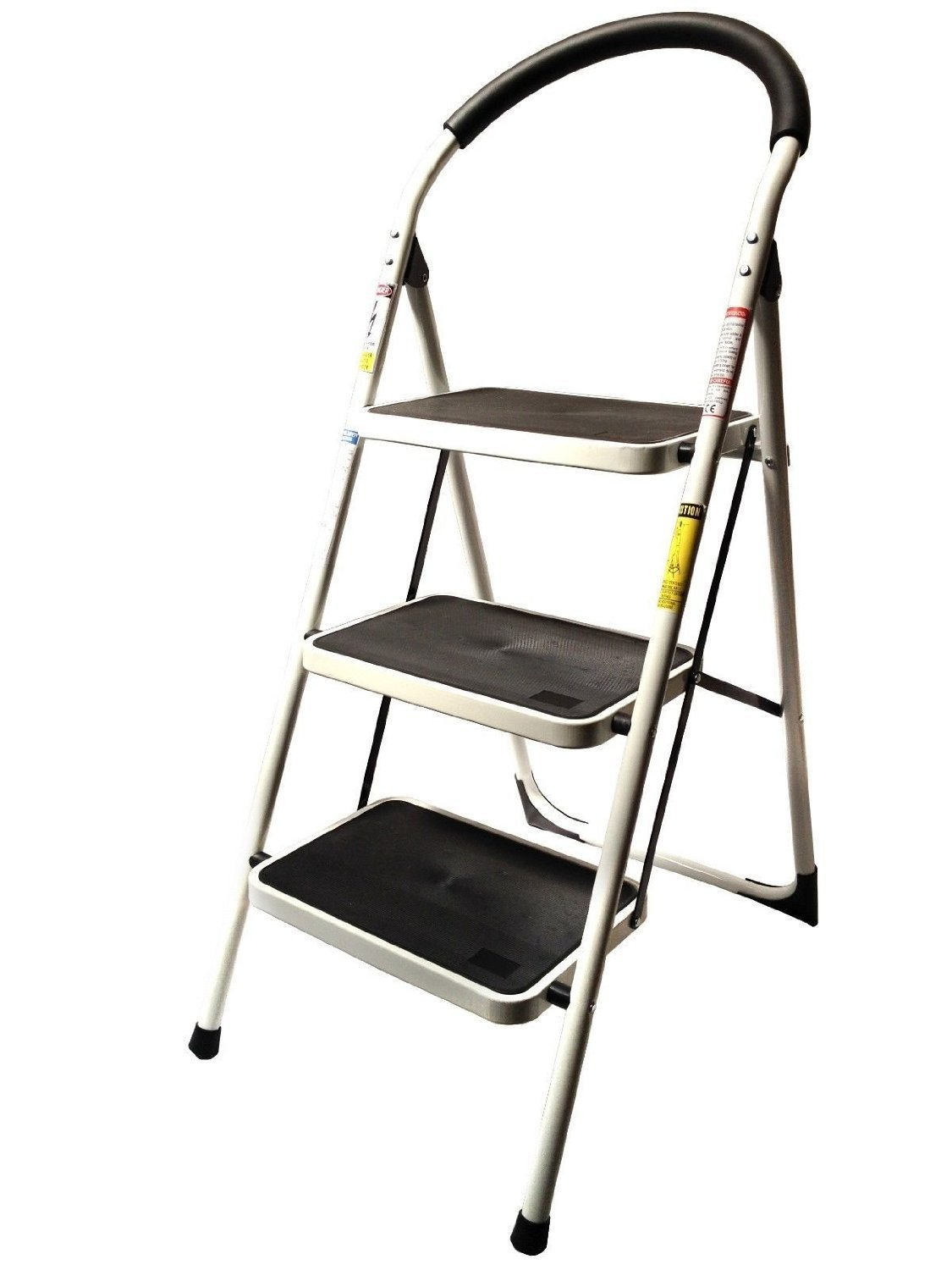 330lbs Upper Reach Reinforced Metal Folding Step Ladder Stool Household Kitchen Use Three Quality And Strength Holds At Least