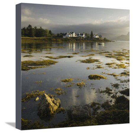 Dawn View of Plockton Harbour and Loch Carron Near the Kyle of Lochalsh in the Scottish Highlands Stretched Canvas Print Wall Art By John (Kyle Wall Fixture)