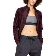 Under Armour Women's Fleece Full Zip Jacket X-Small Burgundy