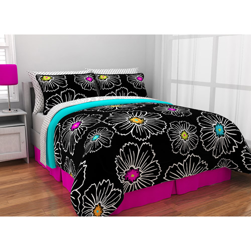 11437dd0f2 Latitude Peace Paint Reversible Bed in a Bag Bedding Set - Walmart.com