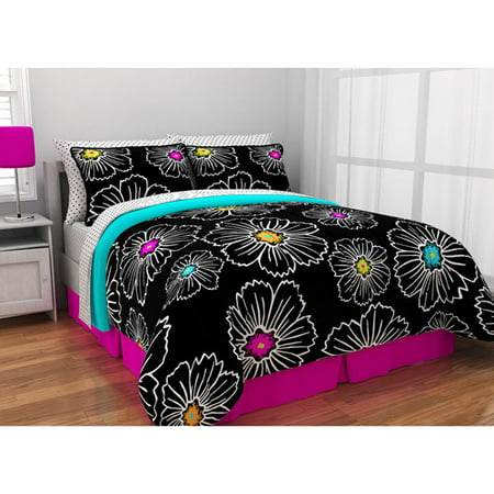Latitude Pop Bloom Bed In A Bag Bedding Set Walmart Com