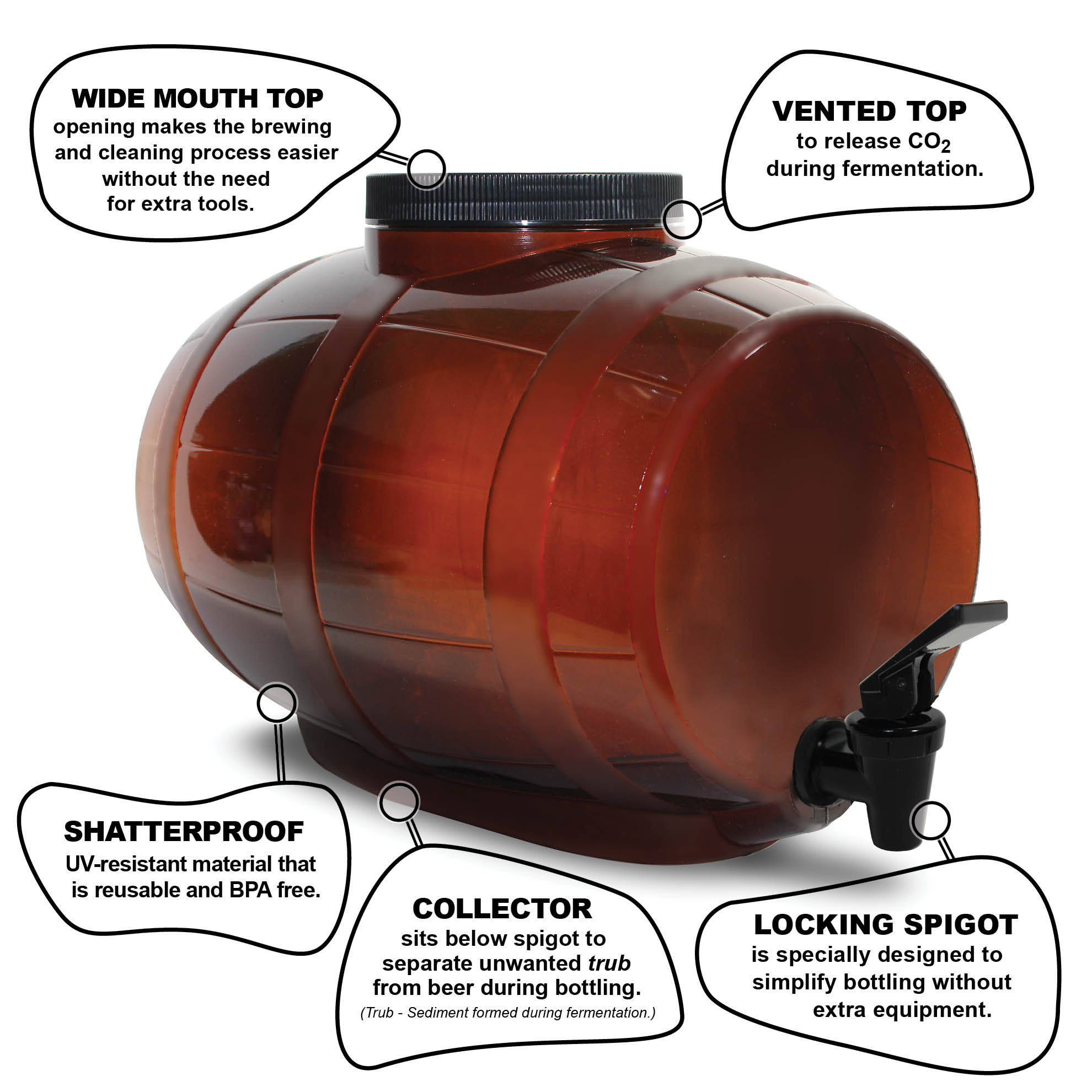 Mr Beer Bewitched Amber Ale Craft Beer Making Kit With Convenient 2 Gallon Fermenter Designed For Simple And Efficient Homebrewing Walmart Com Walmart Com