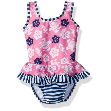 Baby Girl's Floral Seahorse Swimwear 12 Months - Baby Seahorse For Sale