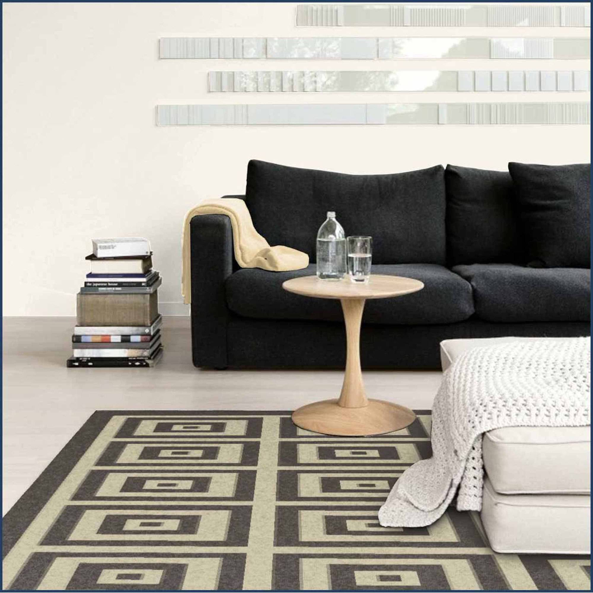 Spaces Home and Beyond Boxes Accent Rug