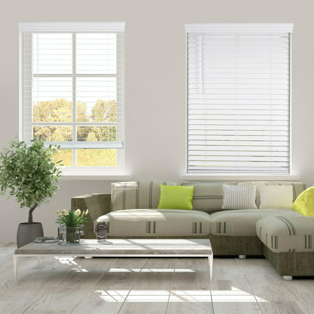 Arlo Blinds Cordless 2 Inch Faux Wood Horizontal Blinds - Size: 17