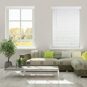 Arlo Blinds Cordless 2 Inch Faux Wood Horizontal Blinds, White