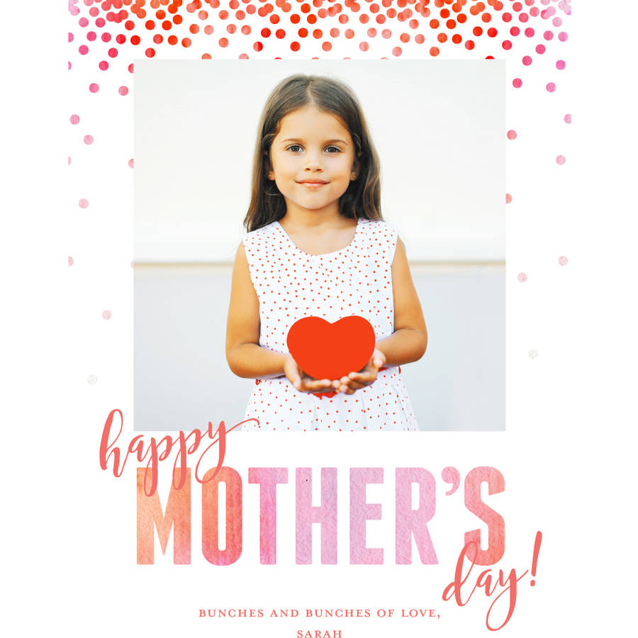 Watercolor Confetti Mother's Day Greeting Card