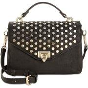 "INC International Concepts Jessa Women's Studded Top Handle Crossbody Bag wit 24""L Removable Strap, Black"