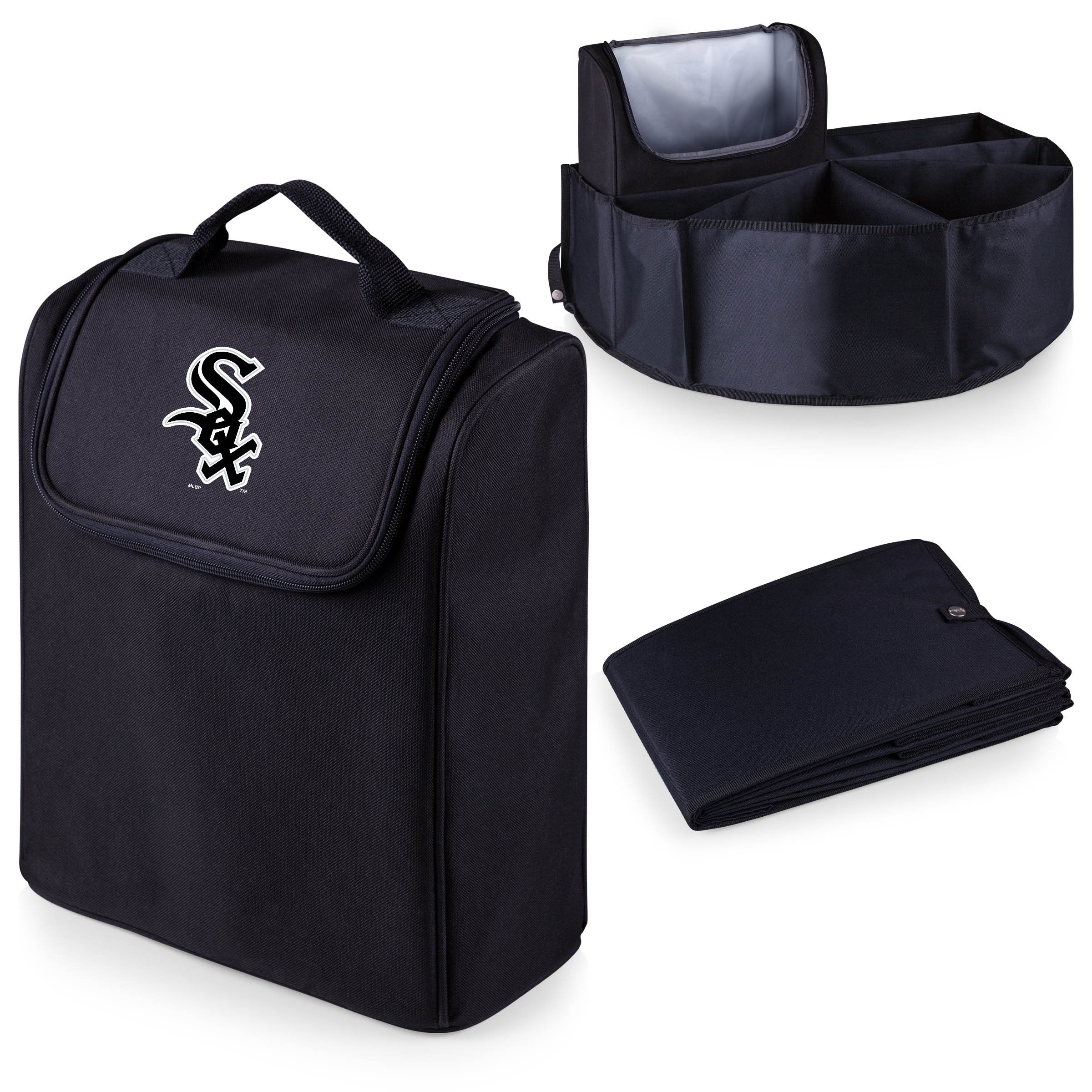 Chicago White Sox Trunk Boss Organizer with Cooler - Black - No Size