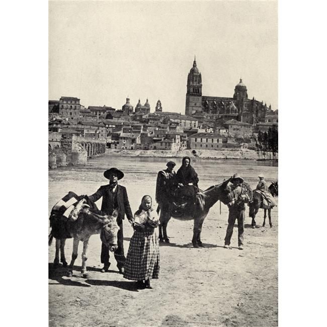 Posterazzi DPI1857331LARGE View of Salamanca Spain From The Roman Bridge Poster Print, Large - 24 x 36 - image 1 of 1