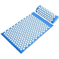 NSPIRE FIT Acupressure Mat and Pillow Set for Back and Neck Pain Relief and Muscle Relaxation Massage