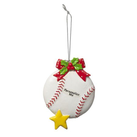 Baseball Christmas Ornament  Clay Baseball Holiday Ornament