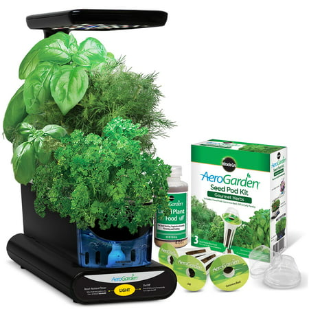 Growing Herbs Window Box (AeroGarden 3-Pod Indoor Sprout LED Plus with Herb Seed Kit)