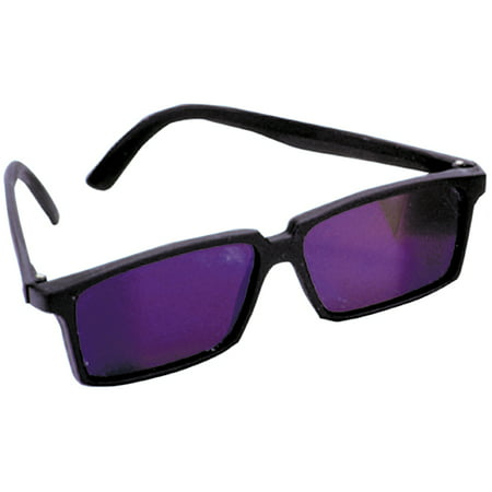 Spy Mirror Rearview Glasses, Black, One Size (5.75 Wide)