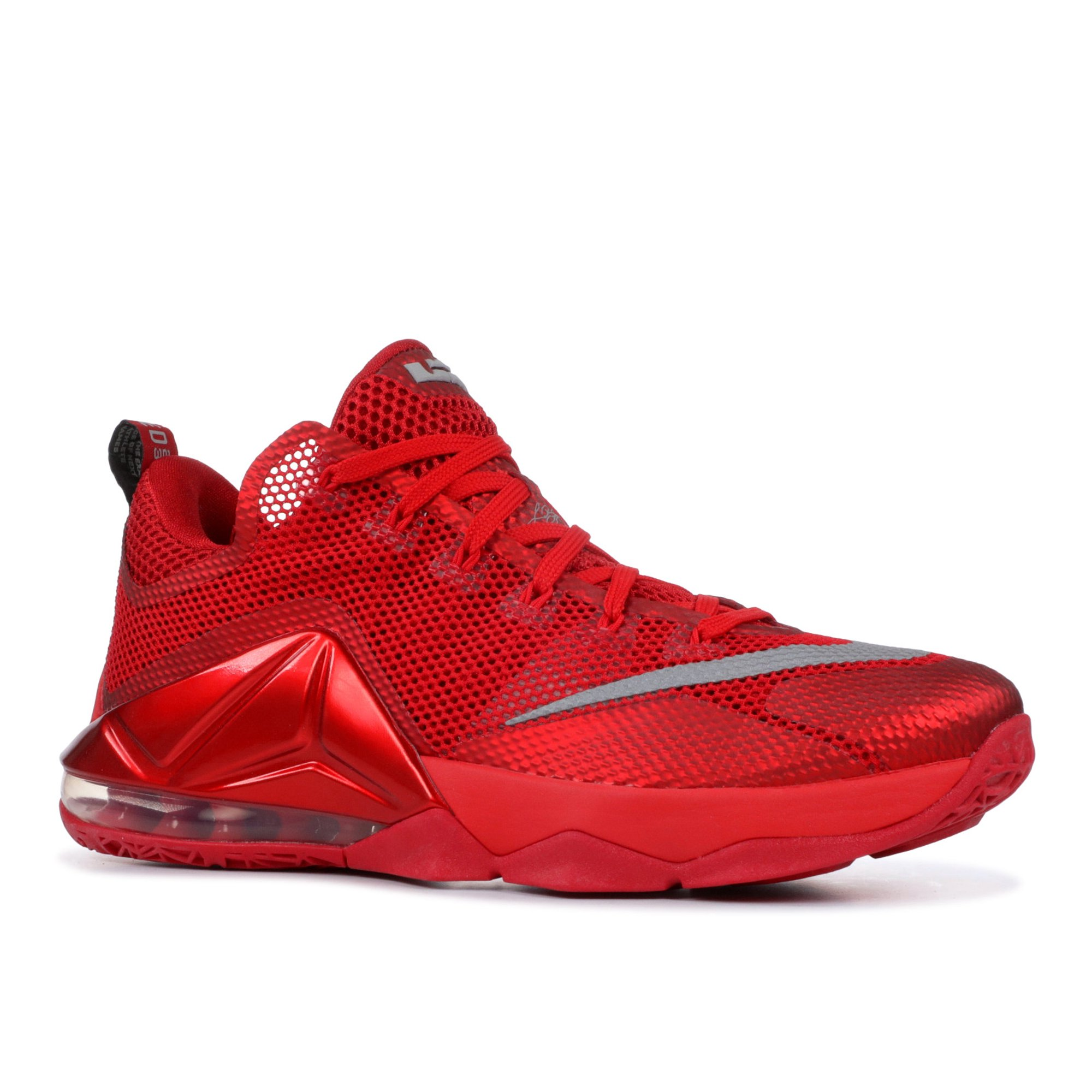 huge selection of 1d83b 7f558 Nike - Men - Nike Lebron 12 Low 'All Over Red' - 724557-616 ...