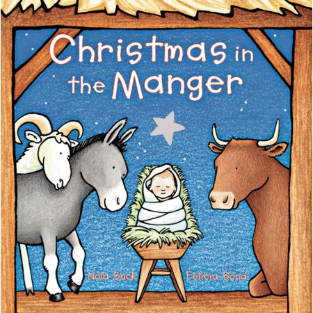 Christmas in the Manger Padded Board Book (Board Book) Learn Padded Board Book