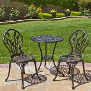 Best Choice Products Cast Aluminum Patio Bistro Furniture Set In Antique Copper