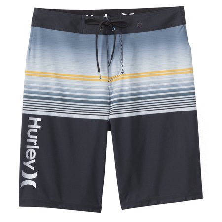 Hurley Men's Black/Grey/Yellow Scope Boardshort Classic Swim Bottom ()