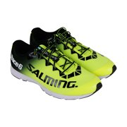 Salming Race 6  Mens Green Low Top Athletic Gym Running Shoes