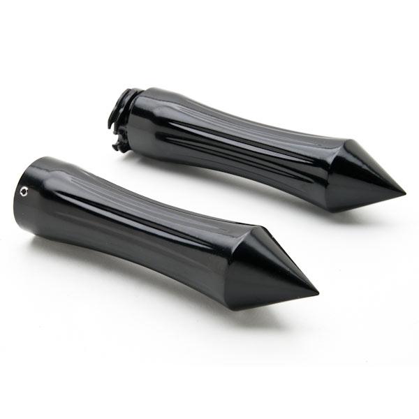 Motorcycle Hand Grips 1 Inch Handlebar Bars Pair For Kawasaki Eliminator BN 125 250 600 900 - image 4 of 4