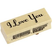Inkadinkado  'I Love You' Wood-mounted Rubber Stamp