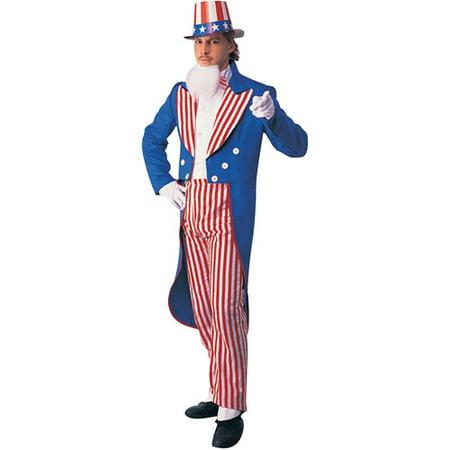 Uncle Sam Adult Halloween Costume - Walmart.com