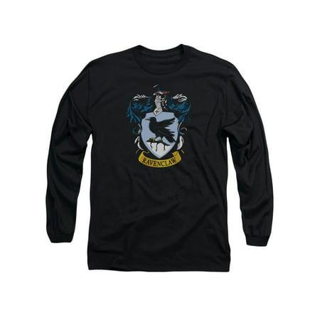Harry Potter Ravenclaw Crest Long Sleeve Adult Black