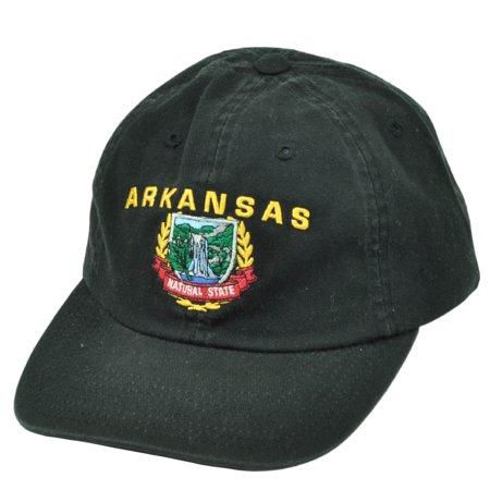 Arkansas Black Hat Cap The Natural State USA America Clip Buckle Headgear Relaxed - Uta Caps