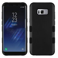Kaleidio Case For Samsung Galaxy S8 G950 [TUFF Armor] Impact Protective Hybrid [Shockproof] 3-Piece Dual Layer Rubber Cover w/ Overbrawn Prying Tool [Black/Black]