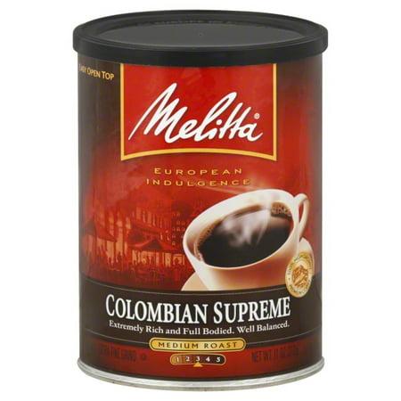 Melitta® Colombian Supreme Ground Coffee, Medium Roast, 11 oz. Canister